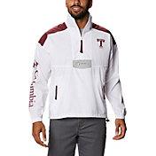 Columbia Men's Texas A&M Aggies Santa Ana Quarter-Zip Anorak White Jacket