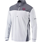 Columbia Men's Texas A&M Aggies Omni-Wick Standard Quarter-Zip White Shirt