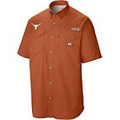 Columbia Men's Texas Longhorns Burnt Orange Tamiami Button Down Shirt