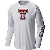 Columbia Men's Texas Tech Red Raiders Terminal Tackle Long Sleeve White T-Shirt