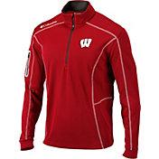 Columbia Men's Wisconsin Badgers Red Shotgun Quarter-Zip Shirt