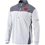 Columbia Men's Wisconsin Badgers Omni-Wick Standard Quarter-Zip White Shirt