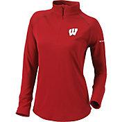 Columbia Women's Wisconsin Badgers Red Flop Shot Half-Zip Pullover Shirt