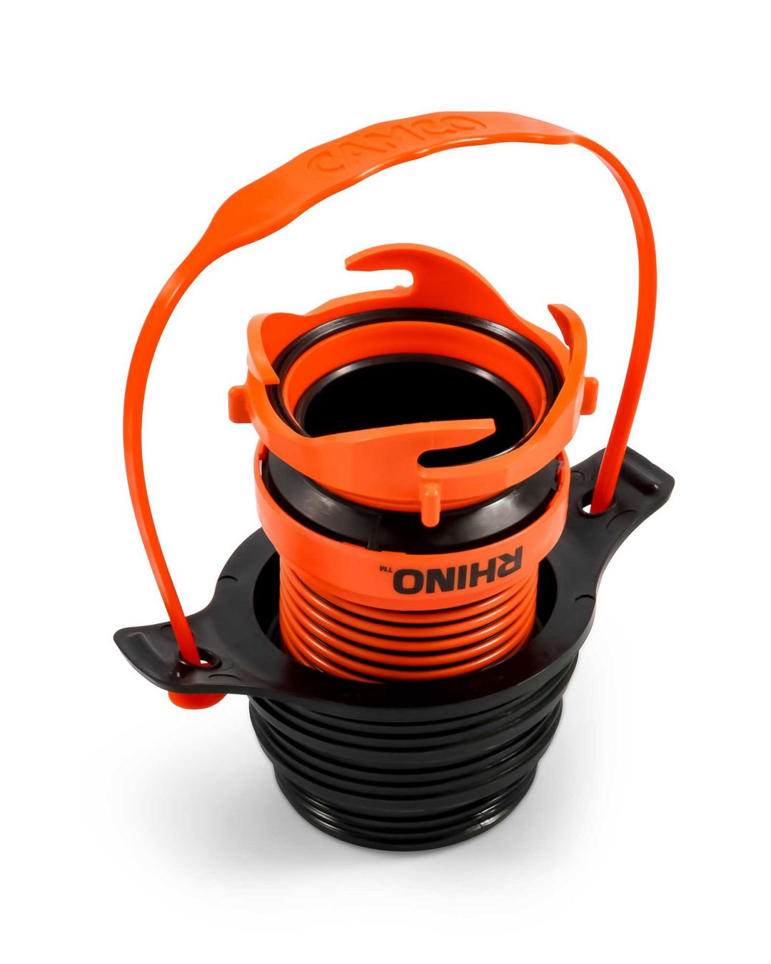 Camco Rv Rhino Sewer Hose Adapter Flexible Drain Field Stream