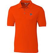 Cutter & Buck Men's Auburn Tigers Orange Advantage Long Sleeve Polo