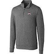 Cutter & Buck Men's Ohio State Buckeyes Grey Shoreline Half-Zip Shirt