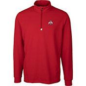 Cutter & Buck Men's Ohio State Buckeyes Scarlet Traverse Half-Zip Shirt