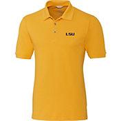 Cutter & Buck Men's LSU Tigers Gold Advantage Long Sleeve Polo