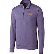 Cutter & Buck Men's LSU Tigers Purple Shoreline Half-Zip Shirt