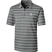 Cutter & Buck Men's Michigan State Spartans Forge Black Polo