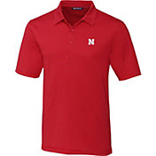 Cutter & Buck Men's Nebraska Cornhuskers Scarlet Forge Polo