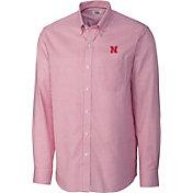 Cutter & Buck Men's Nebraska Cornhuskers Scarlet Epic Long Sleeve Button-Down Shirt