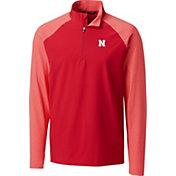 Cutter & Buck Men's Nebraska Cornhuskers Scarlet Response Half-Zip Shirt
