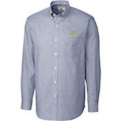 Cutter & Buck Men's Notre Dame Fighting Irish Navy Epic Long Sleeve Button-Down Shirt