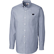 Cutter & Buck Men's Penn State Nittany Lions Blue Epic Long Sleeve Button-Down Shirt