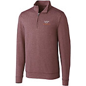 Cutter & Buck Men's Virginia Tech Hokies Maroon Shoreline Half-Zip Shirt
