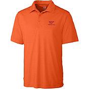 Cutter & Buck Men's Virginia Tech Hokies Orange Northgate Polo