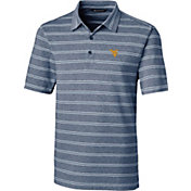Cutter & Buck Men's West Virginia Mountaineers Blue Forge Polo