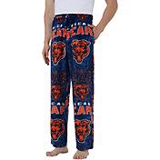 Concepts Sport Men's Chicago Bears Pinnacle Navy Fleece Pants