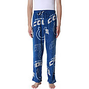 Concepts Sport Men's Indianapolis Colts Pinnacle Blue Fleece Pants