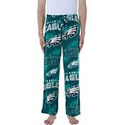 Concepts Sport Men's Philadelphia Eagles Pinnacle Green Fleece Pants