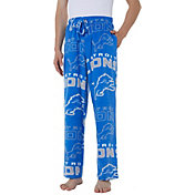 Concepts Sport Men's Detroit Lions Pinnacle Blue Fleece Pants