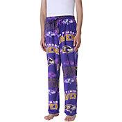 Concepts Sport Men's Baltimore Ravens Pinnacle Purple Fleece Pants