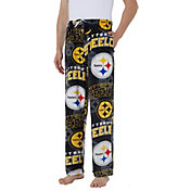 Concepts Sport Men's Pittsburgh Steelers Pinnacle Black Fleece Pants