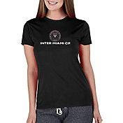 Concepts Sport Women's Inter Miami CF Marathon Black Short Sleeve Top