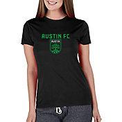 Concepts Sport Women's Austin FC Marathon Black Short Sleeve Top