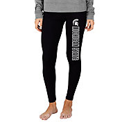 Concepts Sport Women's Michigan State Spartans Fraction Black Leggings