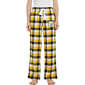 Concepts Sport Women's Pittsburgh Steelers Breakout Black Flannel Pants