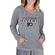 Concepts Sport Women's Philadelphia Flyers Terry Heather Grey Long Sleeve Hooded Shirt