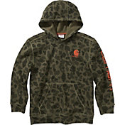 Carhartt Boys' Camo Hooded Long Sleeve Sweatshirt