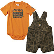 Carhartt infant Boys' Onesie and Shortall Set