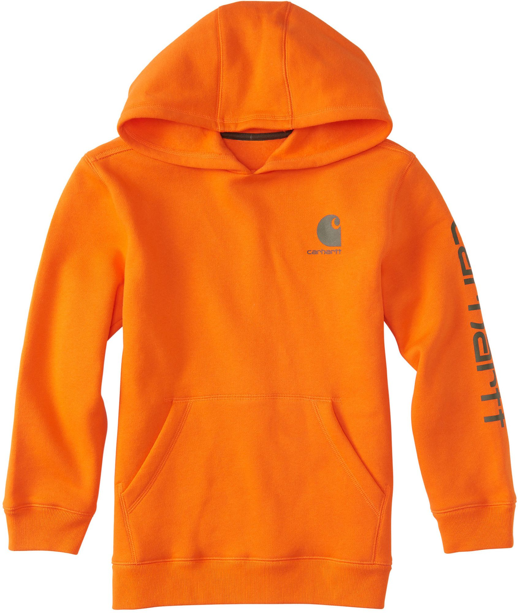 Carhartt Boys' Signature Hoodie, Size 8/10, Blaze Orange thumbnail
