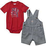 Carhartt Infant Boys' Ticking Stripe Onesie and Shortall Set