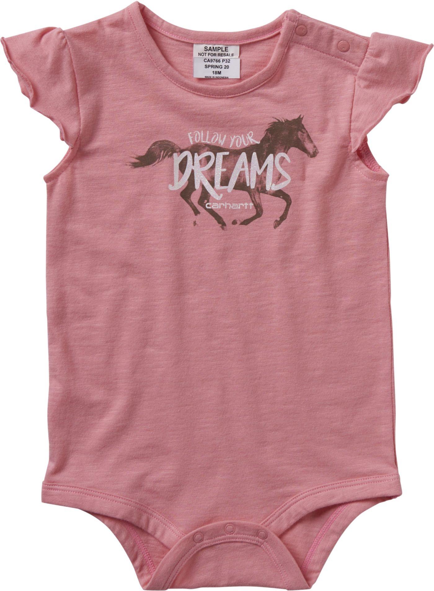 Carhartt Infant Girls' Dreams Short Sleeve Onesie