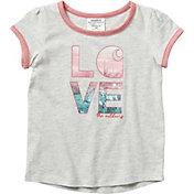 Carhartt Toddler Girls' Love C Ringer Short Sleeve T-Shirt