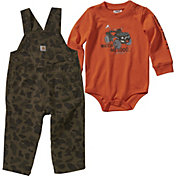 Carhartt Infant Boys' Camo Body Shirt and Overalls Set
