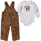 Carhartt Infant Boys' Body Shirt and Overalls Set