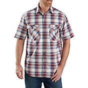 Carhartt Men's Bozeman Button-Front Plaid Short Sleeve Shirt