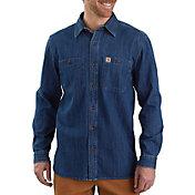 Carhartt Men's Denim Long Sleeve Shirt