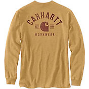 Carhartt Men's Relaxed Fit Heavyweight Long Sleeve Pocket Logo Graphic T-Shirt
