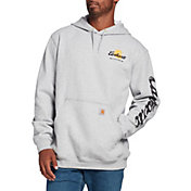 Carhartt Men's Original Fit Hooded Logo Graphic Sweatshirt