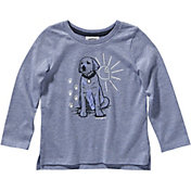 Carhartt Toddler Girls' Heather Graphic Long Sleeve T-Shirt