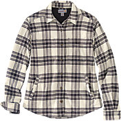 Carhartt Women's Rugged Flex Relaxed Fit Flannel Fleece Lined Plaid Shirt