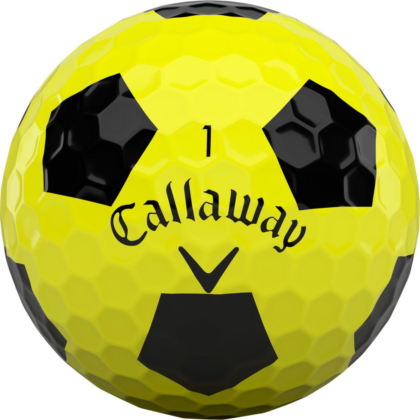 Callaway 2020 Chrome Soft Truvis Yellow Golf Balls
