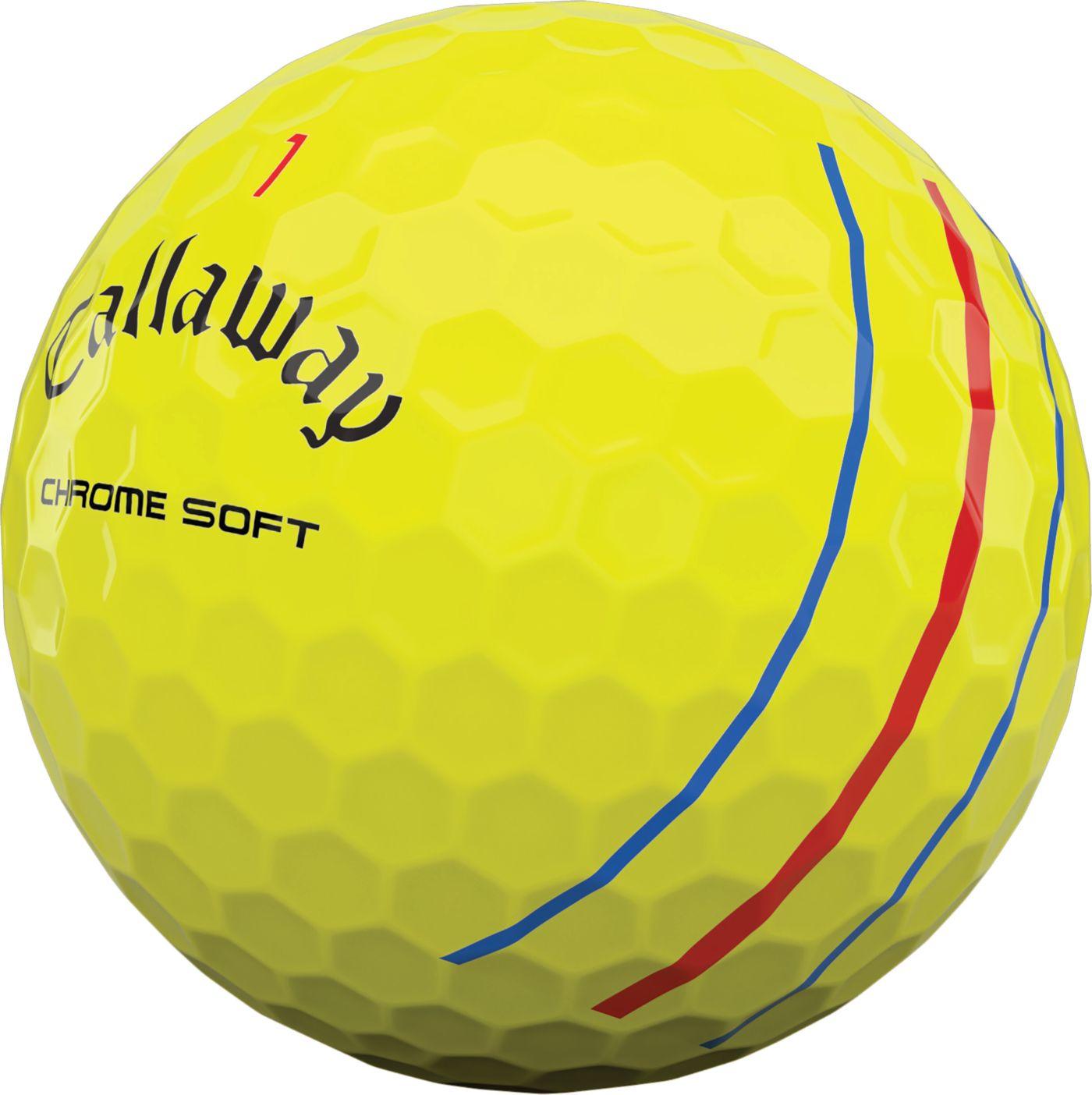 Callaway 2020 Chrome Soft Triple Track Yellow Golf Balls