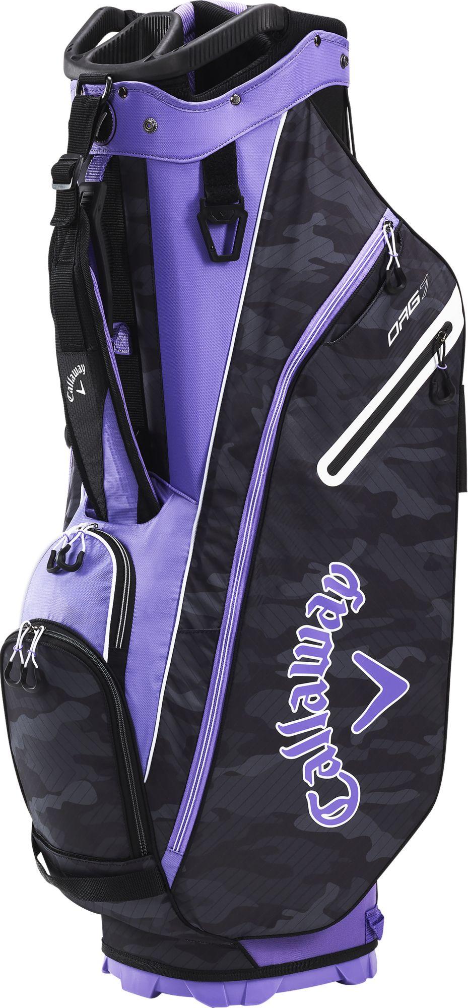 Callaway Women's 2020 Org 7 Cart Golf Bag, Lilac/Black Camo